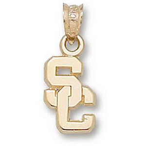 USC Trojans 7/16in 14k SC Pendant