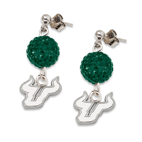 University of South Florida Crystal Ovation Earrings