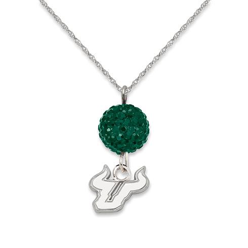 University of South Florida Crystal Ovation Necklace