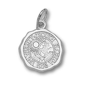 Sterling Silver 1/2in South Florida Bulls Seal Pendant