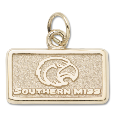 Southern Mississippi 3/8in Pendant 14kt Yellow Gold