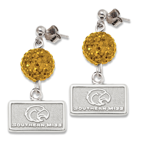 University of Southern Mississippi Crystal Ovation Earrings