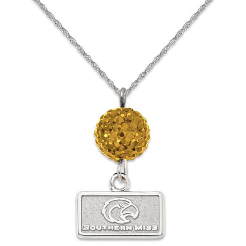 University of Southern Mississippi Crystal Ovation Necklace