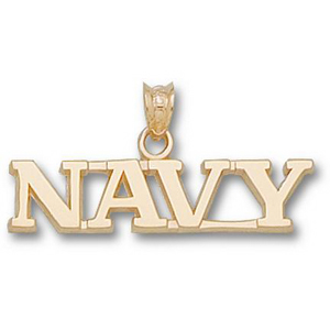14kt Yellow Gold 1/4in Navy Midshipmen NAVY Pendant