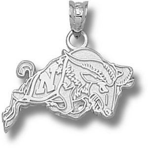 Sterling Silver 1/2in US Navy Bill the Goat Pendant
