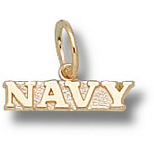 Navy Midshipmen 1/8in 10k Pendant