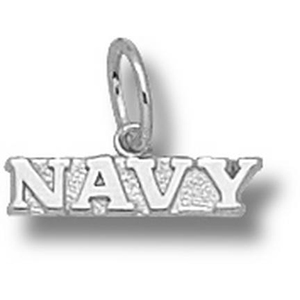 Navy Midshipmen 1/8in Sterling Silver Pendant