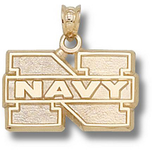 Navy Midshipmen 1/2in 10k N Pendant