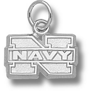 Sterling Silver 5/16in Naval Academy N Pendant