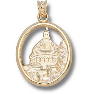 Navy Midshipmen 3/4in 10k Chapel Dome Pendant