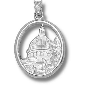 Navy Midshipmen 3/4in Sterling Silver Chapel Dome Pendant