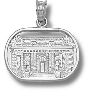 Sterling Silver 1/2in Navy Bancroft Hall Pendant