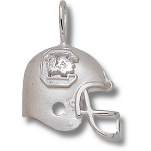 Sterling Silver 3/4in University of South Carolina Helmet Pendant