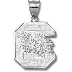 South Carolina Gamecocks Giant Sterling Silver Logo Pendant