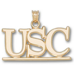 10kt Yellow Gold 1/2in South Carolina USC Pendant