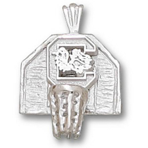 South Carolina 5/8in Sterling Silver Backboard Pendant