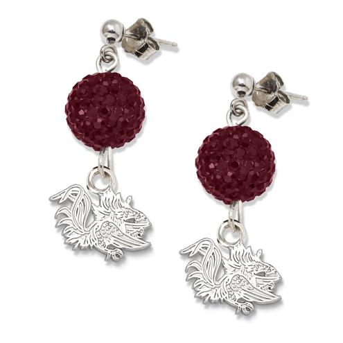 University of South Carolina Crystal Ovation Earrings