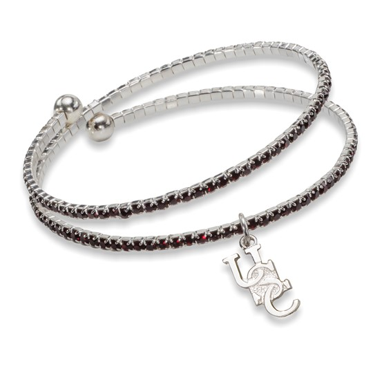 University of South Carolina Amped Logo Crystal Bracelet