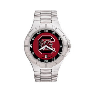 South Carolina Gamecocks Mens Stainless Pro II Watch