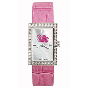 South Carolina Gamecocks Starlette Leather Watch