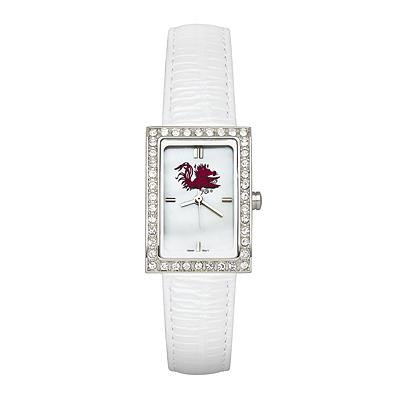 University of South Carolina Allure White Leather Watch