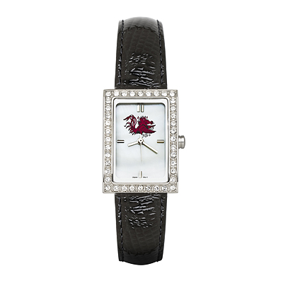 University of South Carolina Allure Black Leather Watch
