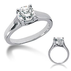 1 CT TW Moissanite Engagement Ring