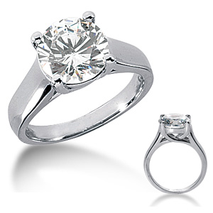 3 CT TW Moissanite Engagement Ring