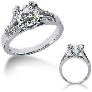 1.20 CT TW Moissanite Engagement Ring