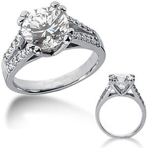 2.80 CT TW Moissanite Engagement Ring