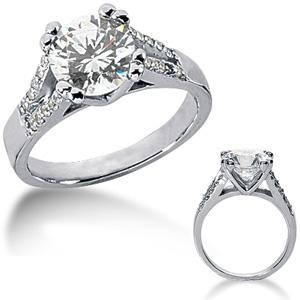 2.20 CT TW Moissanite Engagement Ring