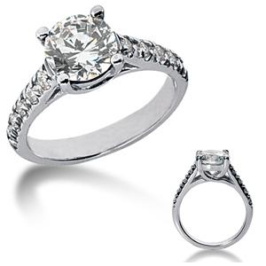 1.8 CT TW Moissanite Engagement Ring