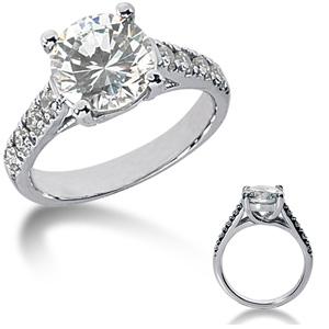 2.8 CT TW Moissanite Engagement Ring