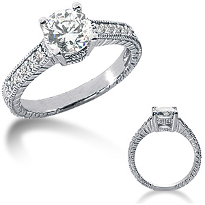 1.15 CT TW Moissanite Engagement Ring