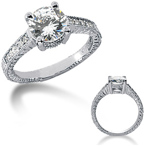 2.15 CT TW Moissanite Engagement Ring
