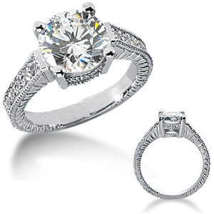 3.25 CT TW Moissanite Engagement Ring