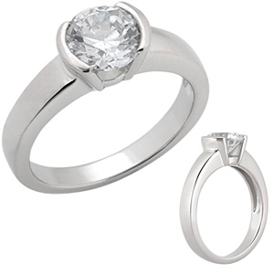1 CT TW Moissanite Engagement Ring