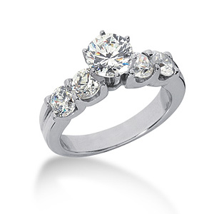 3.7 CT TW Moissanite Engagement Ring
