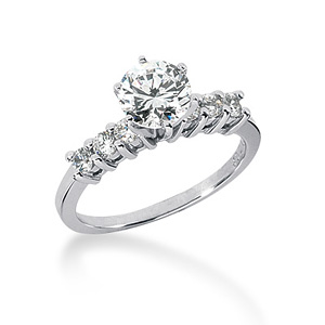 3.3 CT TW Moissanite Engagement Ring