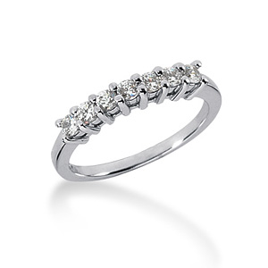 14kt White Gold 1/3 CT TW Moissanite Wedding Band