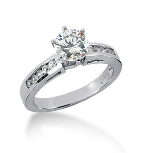 1.7 CT TW Moissanite Engagement Ring