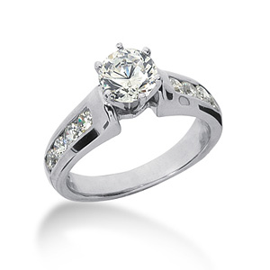 1.6 CT TW Moissanite Engagement Ring