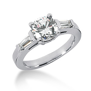 1.8 CT TW Moissanite Engagement Ring