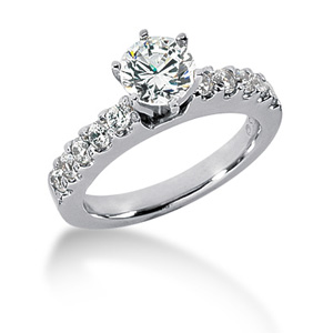 2.0 CT TW Moissanite Engagement Ring