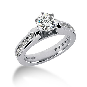 2.25 CT TW Moissanite Engagement Ring