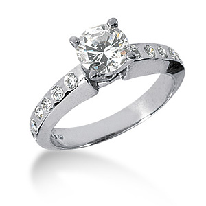 1.36 CT TW Moissanite Engagement Ring