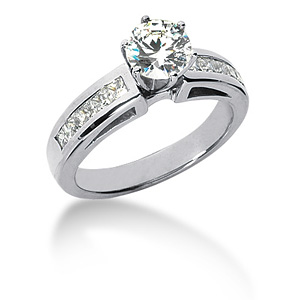 1.5 CT TW Moissanite Engagement Ring