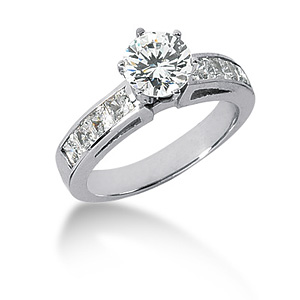2.3 CT TW Moissanite Engagement Ring