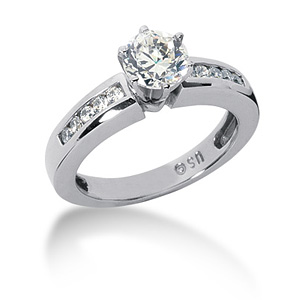 1.25 CT TW Moissanite Engagement Ring
