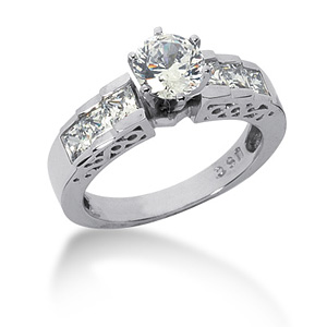 4 CT TW Moissanite Engagement Ring